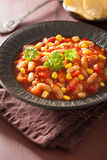 Mexican veggie chilli in plate Royalty Free Stock Photo