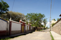 Mexican village street Royalty Free Stock Image