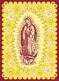 Mexican Virgin of Guadalupe - vintage poster. Mexican Virgin of Guadalupe - vintage silkscreen style poster Royalty Free Stock Photo