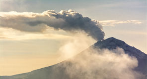 Mexican Volcano Popocatepetl. Vapor From a Mexican Volcano Popocatepetl Royalty Free Stock Images