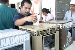 Mexican voting Royalty Free Stock Photos