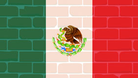 Mexican Wall And Flag Royalty Free Stock Images