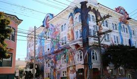 Mexican walls of house of women, San Francisco, California, USA Stock Photo
