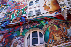 Mexican walls of house of women, San Francisco, California, USA Stock Photography