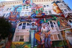 Mexican walls of house of women, San Francisco, California, USA Stock Photos