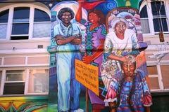 Mexican walls of house of women, San Francisco, California, USA Royalty Free Stock Image