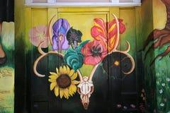 Mexican walls of house of women, San Francisco, California, USA Royalty Free Stock Photos