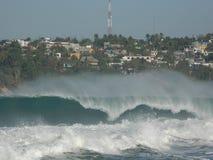 MEXICAN WAVE. BIG WAVE AT PUERTO ESCONDIDO - ZIKATELA Stock Photos