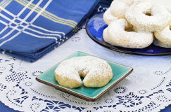 Mexican Wedding Cookie on pretty plate Stock Images