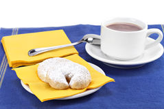 Mexican Wedding Cookies and Hot  Chocolate Royalty Free Stock Photography