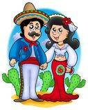 Mexican wedding couple royalty free illustration