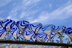 Mexican wine ( martini) glasses on blue sky background Stock Image