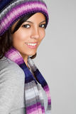 Mexican Winter Woman Royalty Free Stock Photography