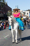 Mexican woman in the 115th Annual Golden Dragon Parade, Lunar Ne Royalty Free Stock Photo
