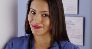 Mexican woman doctor smiling Royalty Free Stock Image