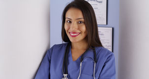Mexican woman doctor standing in office Royalty Free Stock Photos