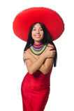 The mexican woman in fashion concept Stock Image