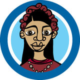 Mexican woman_Frida Royalty Free Stock Image