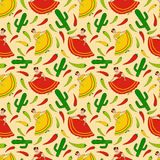 Mexican woman pattern Royalty Free Stock Images