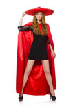 Mexican woman in red clothing Stock Images
