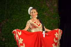 Mexican woman in red Royalty Free Stock Photos