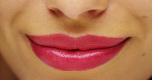 Mexican woman's beautiful lips Royalty Free Stock Photo