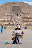 Mexican woman selling typical souvenirs at the Teotihuacan in Mexico Stock Photography