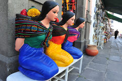 Mexican woman statues Royalty Free Stock Photography