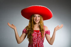 Mexican woman wearing Stock Photography