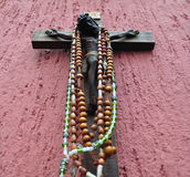 Mexican wooden crucifix Stock Photography