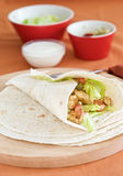 Mexican wrap with guacamole Stock Photo