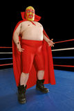 Mexican wrestler. Photograph of a Mexican wrestler or Luchador standing in a wrestling ring Royalty Free Stock Image