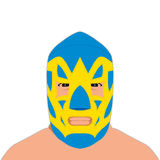 Mexican wrestler blue mask Stock Photos