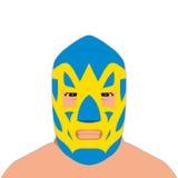Mexican wrestler blue mask Stock Photos