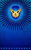 Mexican wrestler mask poster - card - template. Ideal for events, advertising an print Royalty Free Stock Images