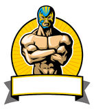 Mexican wrestler pose. Vector of traditional mexican wrestler pose Royalty Free Stock Photos