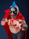 Mexican wrestling portrait Royalty Free Stock Photography