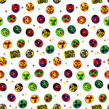 Mexican wrestling. Seamless Pattern. Royalty Free Stock Photos