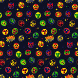 Mexican wrestling. Seamless Pattern. Royalty Free Stock Photography
