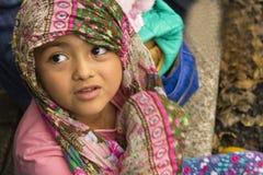 Mexicana llena de ternura en su infancia Stock Image