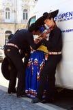 Mexicanen bij een festival Stock Afbeeldingen