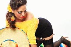 Mexicano atractivo Pin Up Girl Foto de archivo