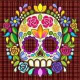 Mexicano Calaveras de Sugar Skull Floral Naif Art libre illustration