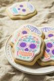 Mexicano caseiro Sugar Skull Cookies fotos de stock