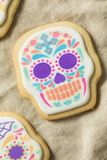 Mexicano caseiro Sugar Skull Cookies fotografia de stock royalty free