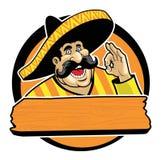 Mexicano com sinal aprovado Imagens de Stock Royalty Free