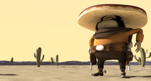 Mexicano de la historieta en desierto mexicano del pilar Fotos de archivo