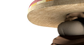 Mexicano de la historieta en pilar mexicano Imagen de archivo