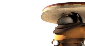 Mexicano de la historieta en pilar mexicano Imagen de archivo libre de regalías