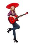 Mexicano engraçado com sombreiro foto de stock royalty free